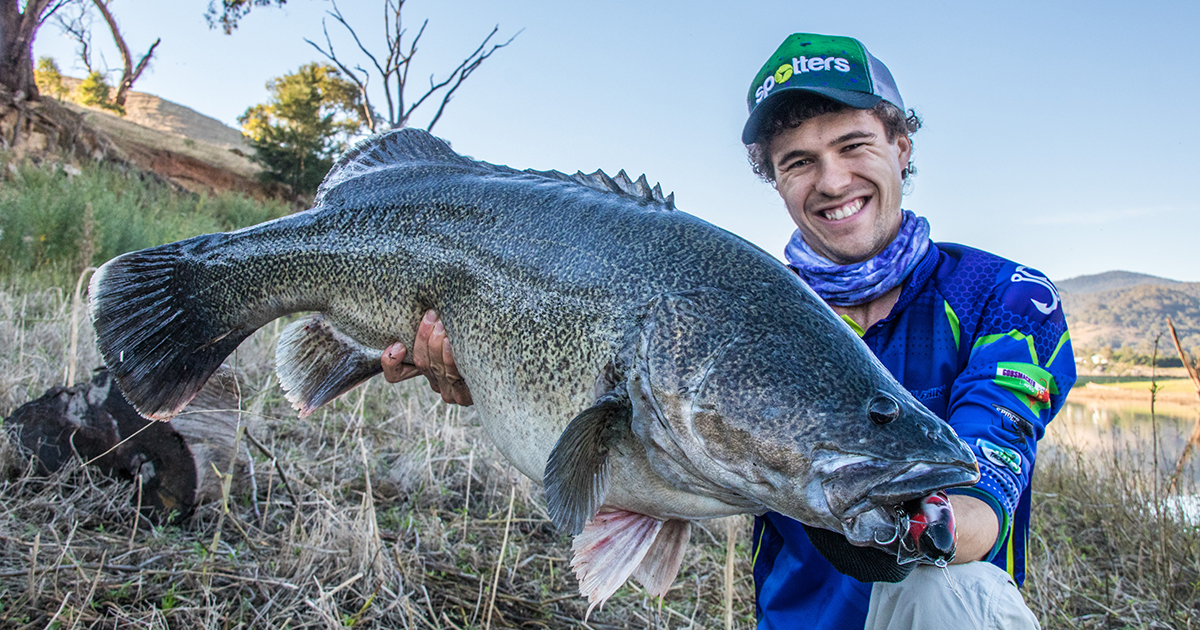 Rhys Creed with meter murray cod