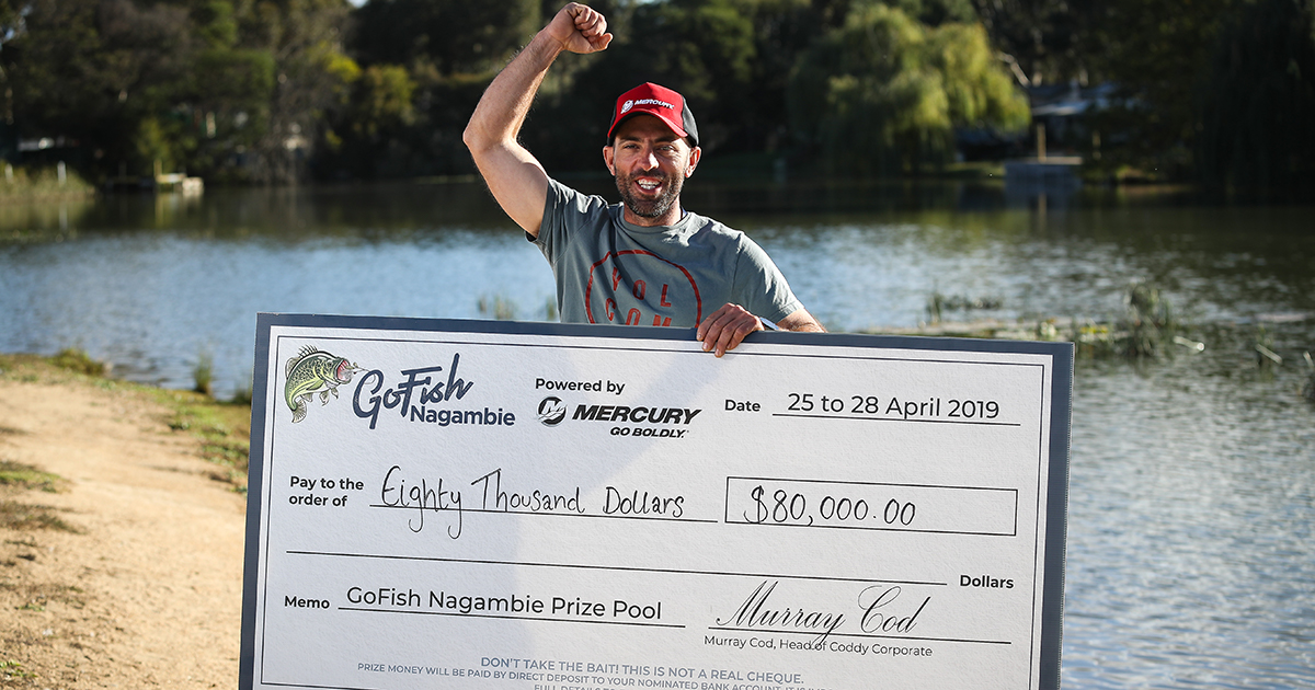 Winner of GoFish Nagambie 2019 with his $80k cheque